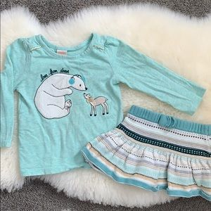 Gymboree 18-24 month shirt and sweater skirt set